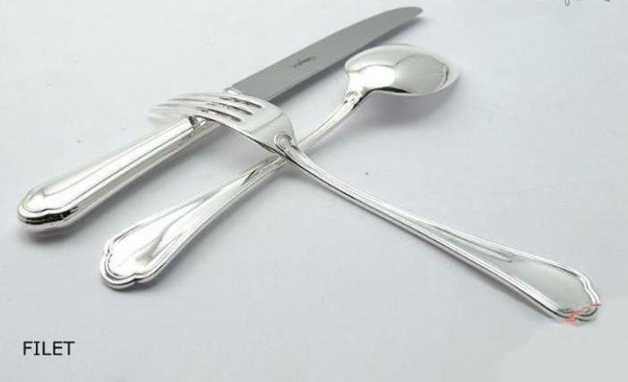 "Luxury Silver Plated Cutlery Set ""Filet"""
