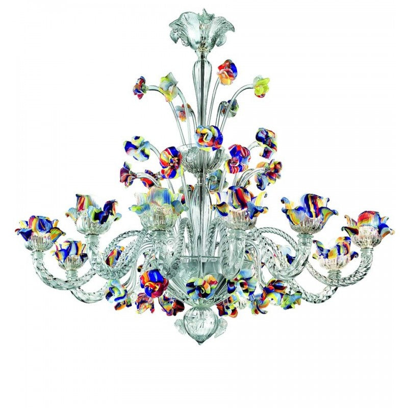 Garden Venetian Crystal Glass Chandelier