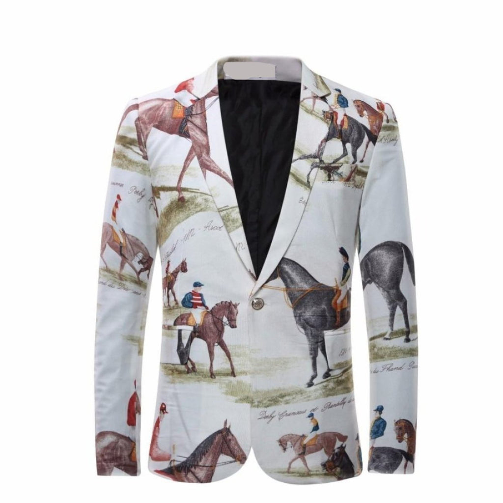 ARGENTO DUBAI MEN SLIM JACKET DERBY DANDY HORSE PARTY CEREMONY