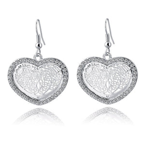 JEWELRY ARGENTO DUBAI CONCEPT STORE Vintage Arabesque Silver Heart Earrings