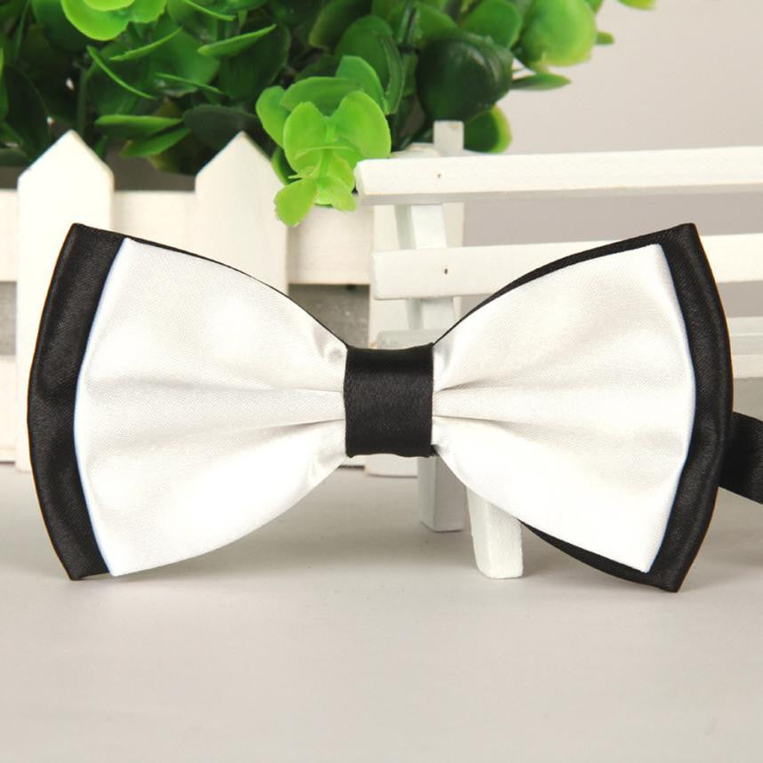 Trendy Bi-Layer Bow Tie Tuxedo Butterfly