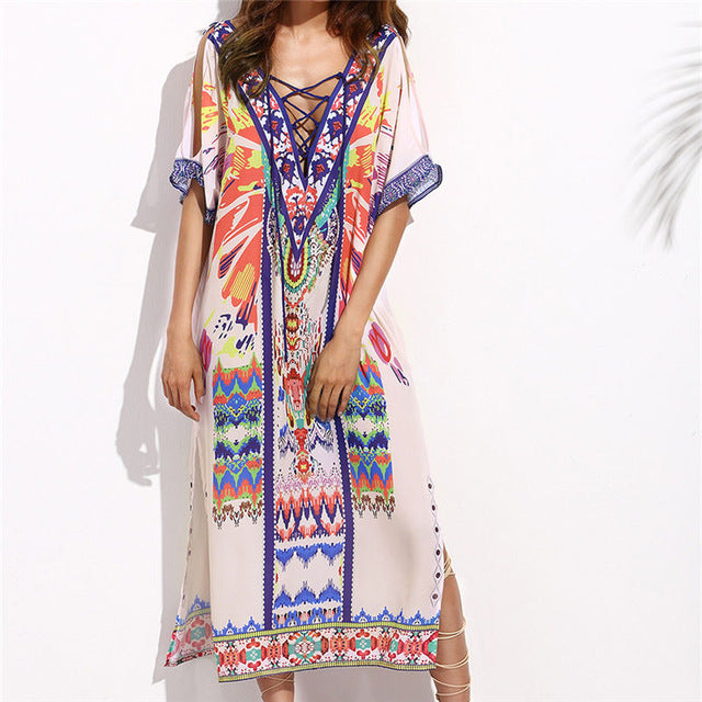Solar Colored Trendy Beach Cover up