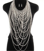 Burlesque Pearl Chains Necklace Body Jewelry