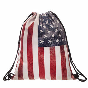 USA UK Flag Backpack Casual Fashion Bag