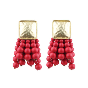 JELWELRY EARRINGS RED ARGENTO DUBAI CONCEPT STORE