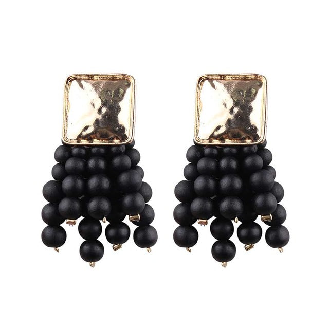 JELWELRY EARRINGS BLACK ARGENTO DUBAI CONCEPT STORE