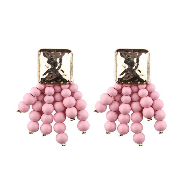 JELWELRY EARRINGS PINK ARGENTO DUBAI CONCEPT STORE