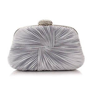 Elegant Diamond Rhinestone Clutch Silk Evening Bags