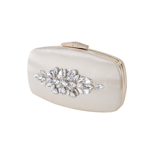 Evening Clutch Bag Crystal Diamond Flower