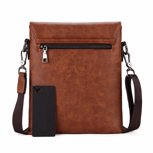 Buckled Leather Messenger