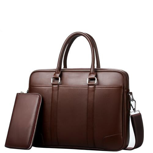 Noblemen™ Brown Leather Briefcase