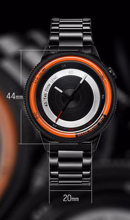 Noblemen™ Orange Black Steel