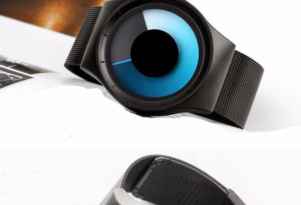 Silver Blue Radar Watch