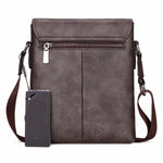 Vintage Frosted Leather Messenger