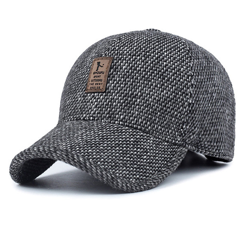 Thick Grey Snapback Cap