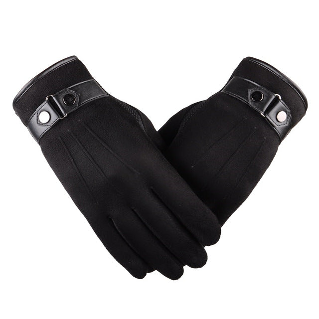 Suede Black Touchscreen Gloves