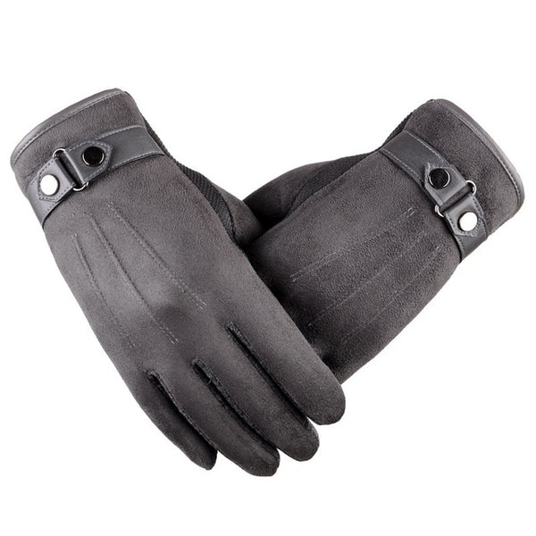 Suede Grey Touchscreen Gloves