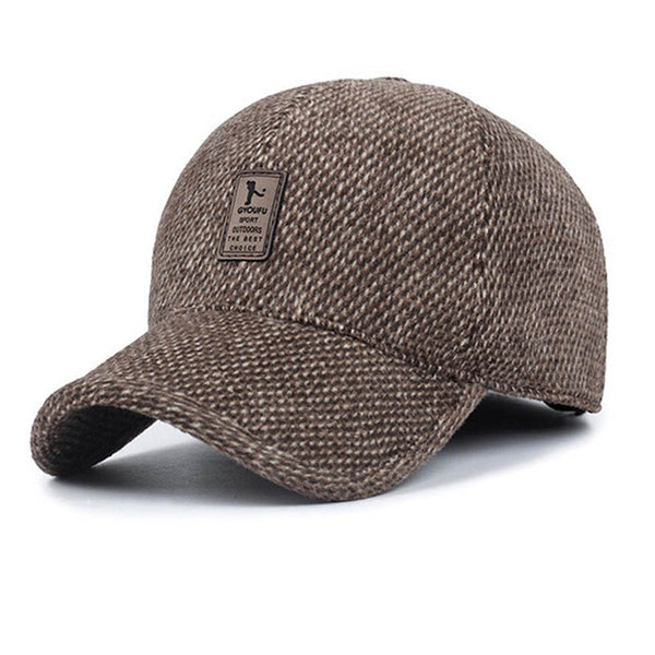 Thick Brown Snapback Cap