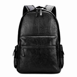 Preppy Leather Backpack