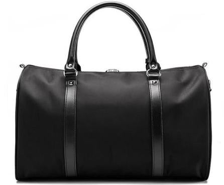 Jet Black Duffel Bag