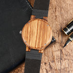 Minimalist Black Bamboo Watch