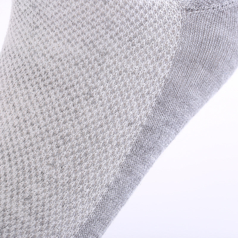 10 Pairs of Solid Grey Mesh Socks