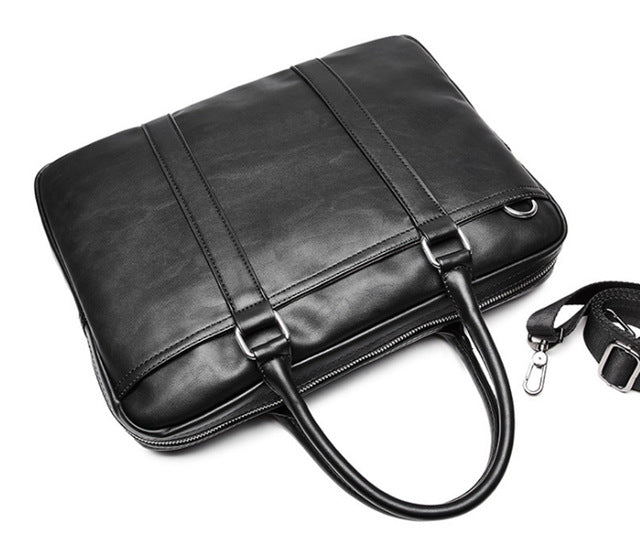 Minimalist Black Leather Bag