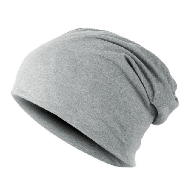 Light Grey Knitted Bonnet Cap