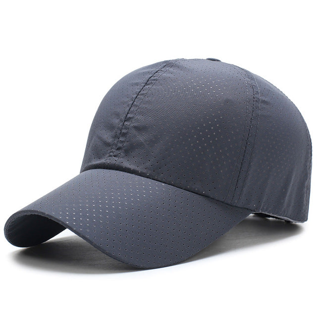 Quick Dry Grey Mesh Cap