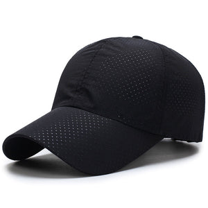 Quick Dry Black Mesh Cap