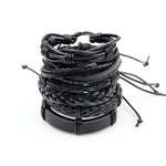 Noblemen™ Black Leather Bracelet