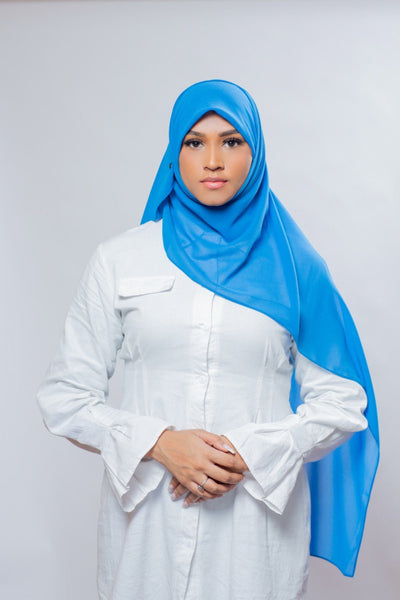 Everyday Chiffon Hijab | Lake Blue Hijab Dana Fashion