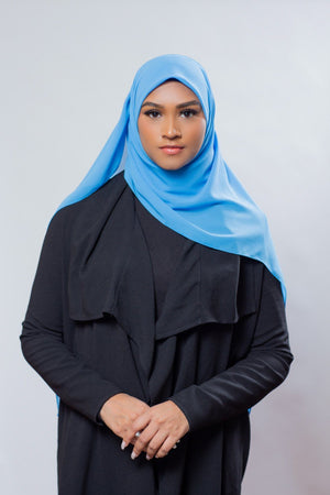 Everyday Chiffon Hijab | Light Blue Hijab Dana Fashion
