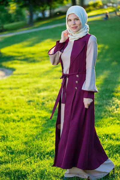 Fit and Flare Dress | Plum Two-piece sets Dana Fashion