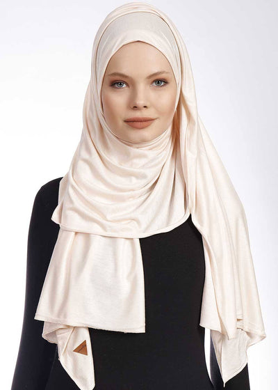 Jersey Hijab | Light Beige Hijab Dana Fashion