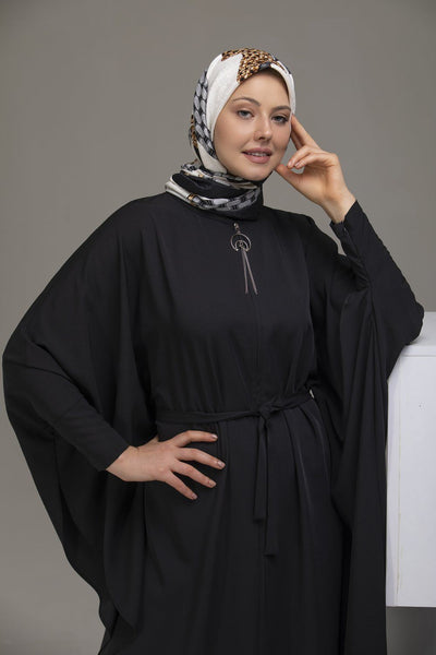 'Lalla' Butterfly Abaya - Black Abaya Dana Fashion