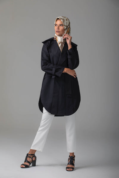 'Maya' Short Trench Coat Coat Dana Fashion