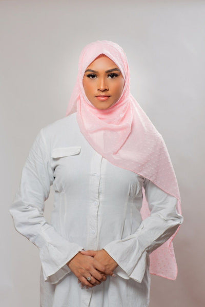 Mosaic Butti Chiffon | Peach Hijab Dana Fashion