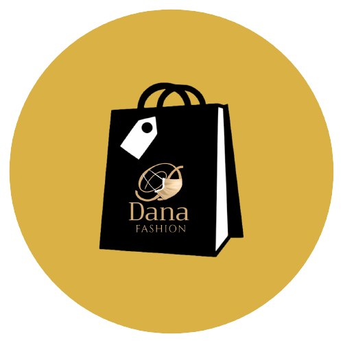 An illustrated hand holding a shopping bag with the Dana fashion logo on it.