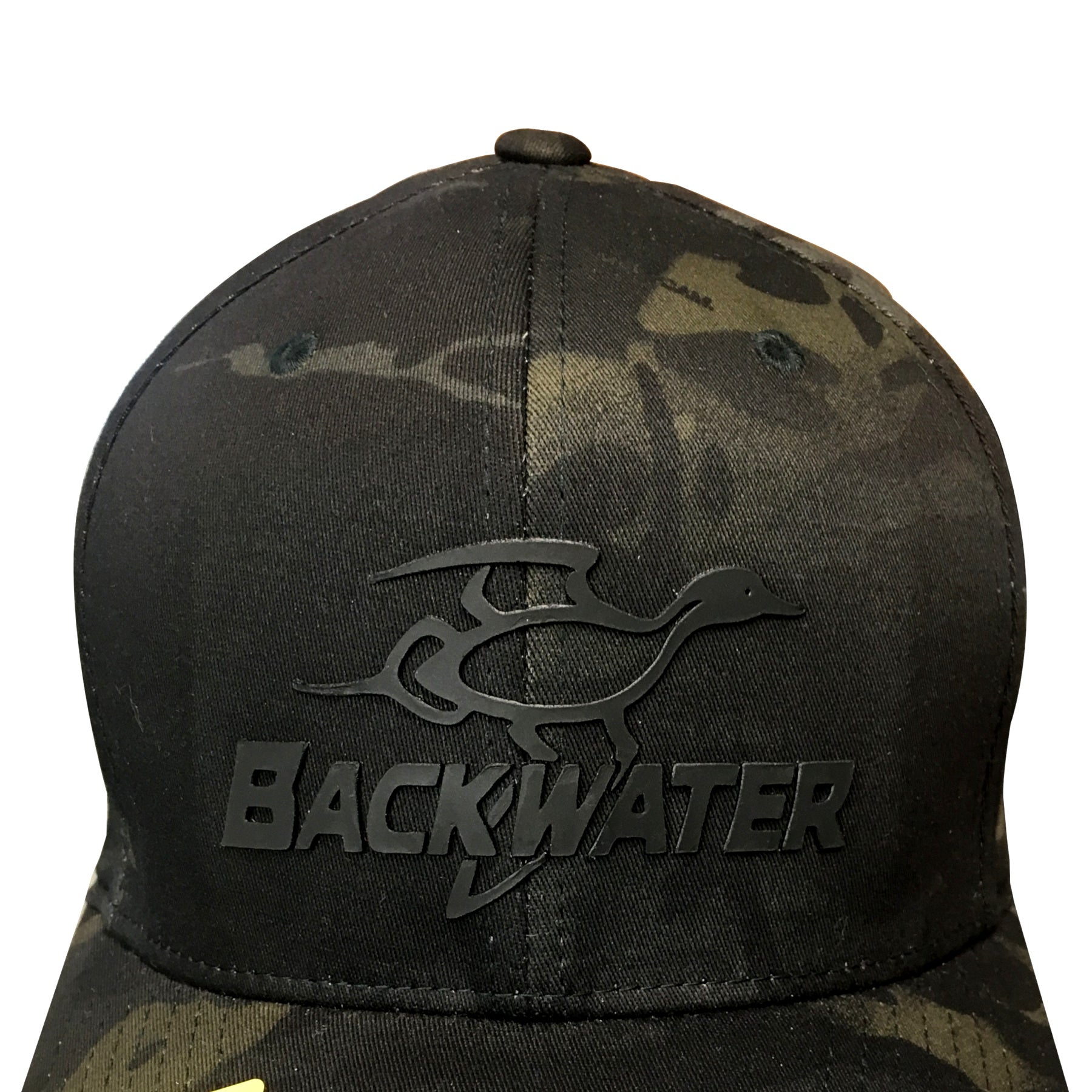 Hat Backwater Multicam Black Flexfit Logo Detail