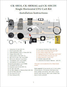 Single 42mm Carb Kit Horizontal Installation Instructions