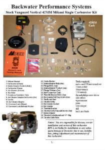 Single 42mm Carb Kit Vertical Installation Instructions