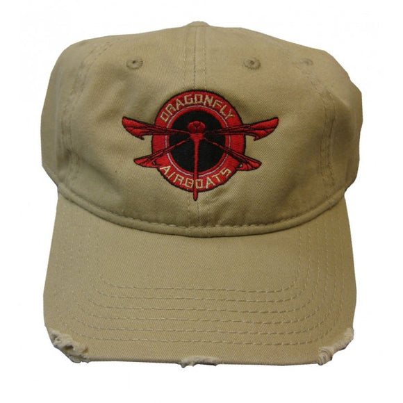Hat Dragonfly Tan Velcro Adjust