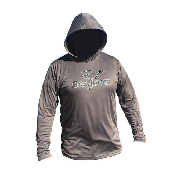 Long Sleeve Shirt BPS Grey Hooded