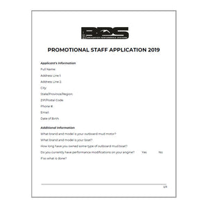 Promotional Staff Application