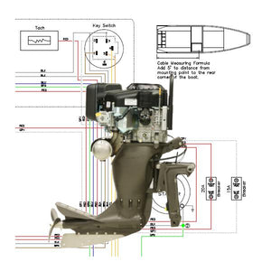 wiring diagram sport v remote steer for outboard mud buddy outboard motors