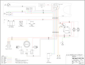 Wiring Diagram Sport V for Outboard Mud Buddy Outboard
