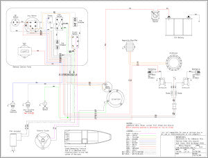 Wiring Diagram Sport Merc 35 and 45 Mag Remote Steer for