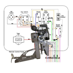 Wiring Diagram Sport Merc 4000, 5000, 6000 Remote Steer for Outboard Mud Buddy Outboard Motors