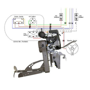 Wiring Diagram Sport Merc 25 and 27 Kohler for Outboard Mud Buddy Outboard Motors